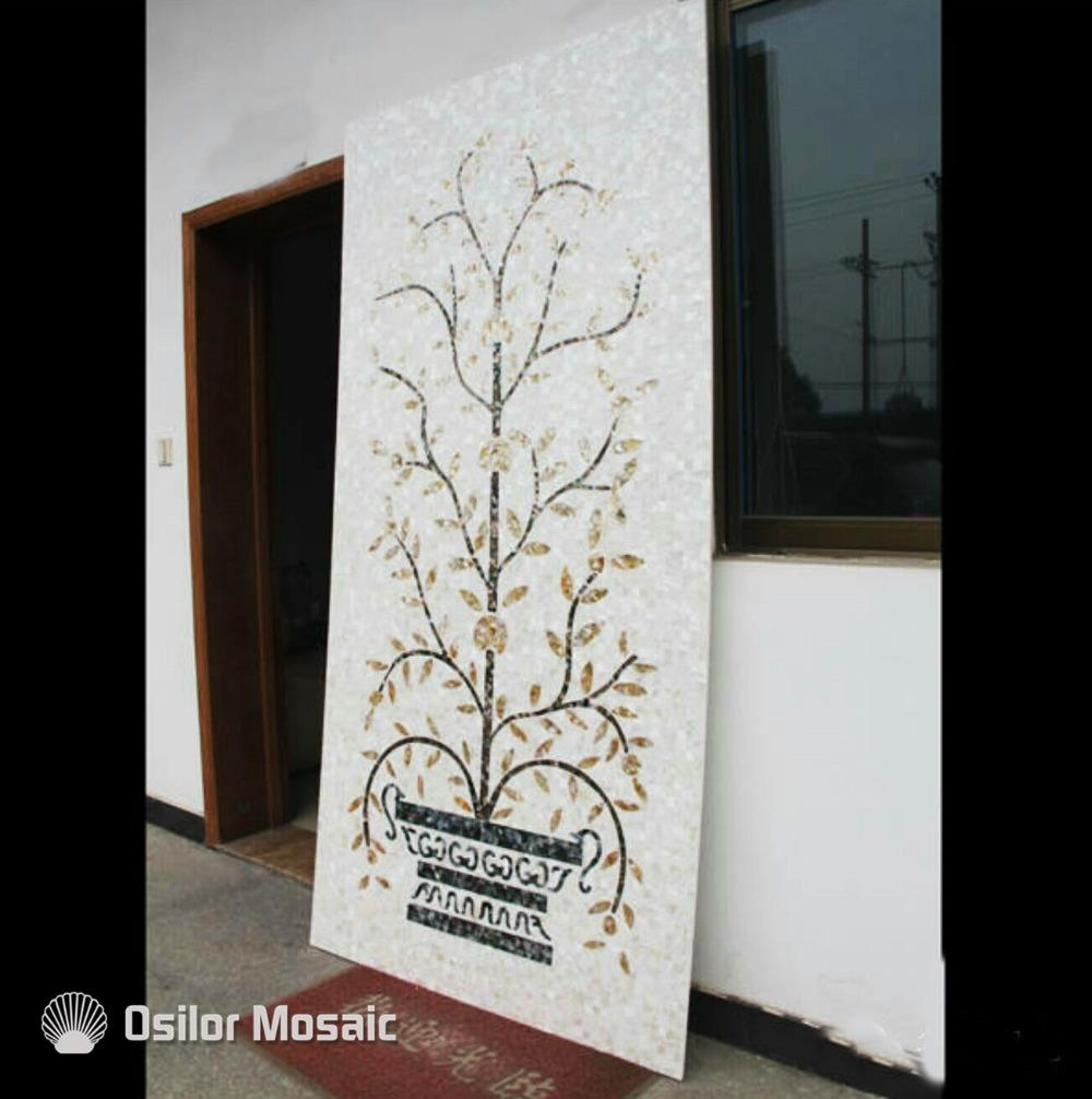 Compare Prices On Mosaic Tile Art Patterns Online Shopping/buy Inside Mother Of Pearl Wall Art (View 9 of 20)