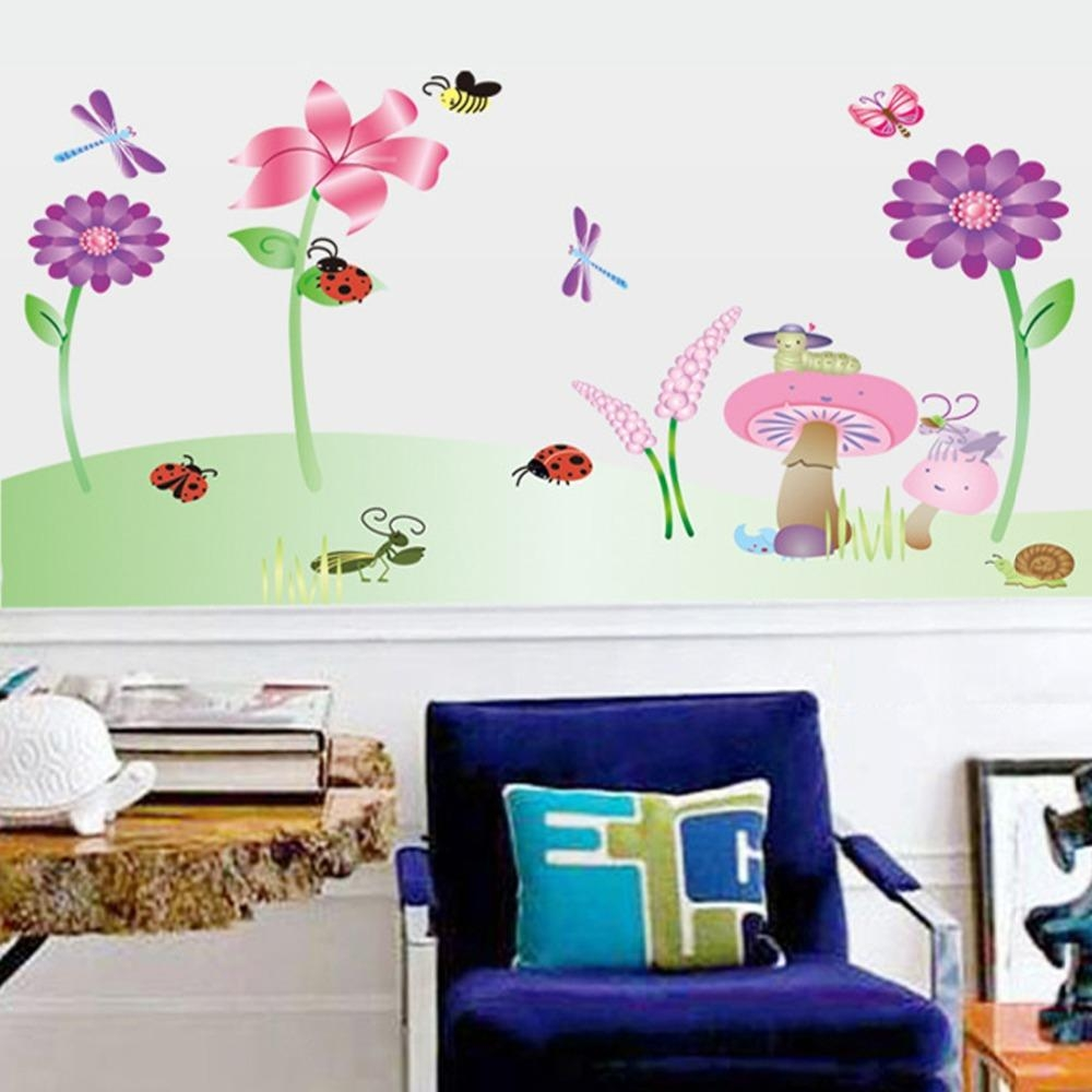 Compare Prices On Mushroom Decals Online Shopping/buy Low Price With Mushroom Wall Art (View 12 of 20)