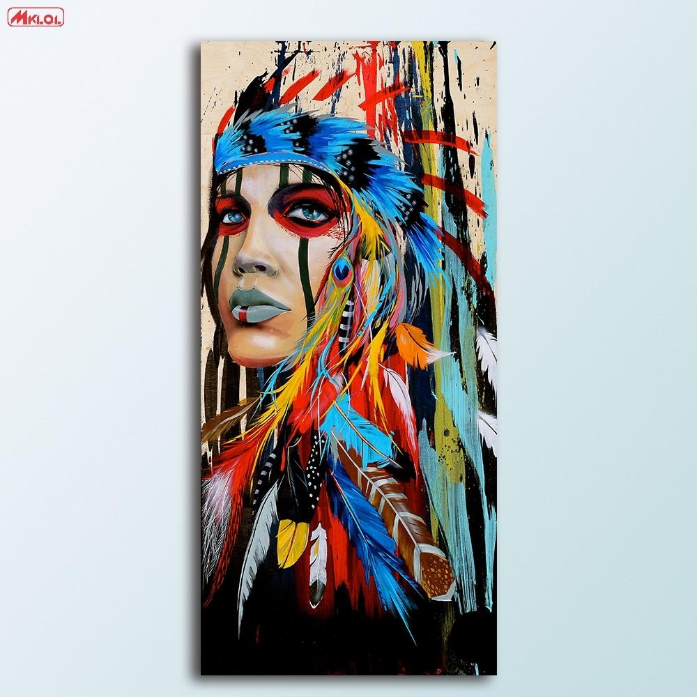 Compare Prices On Native American Art Paintings Online Shopping Inside Native American Wall Art (View 5 of 20)