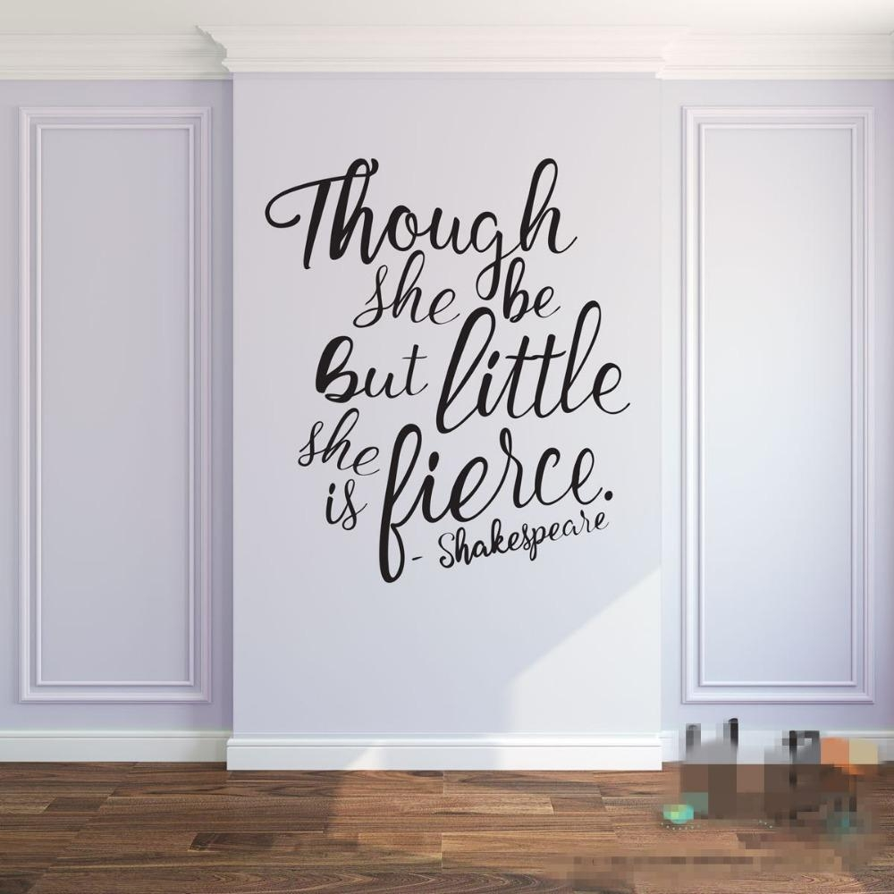 Compare Prices On Nursery Wall Quotes Online Shopping/buy Low Intended For Shakespeare Wall Art (View 3 of 20)