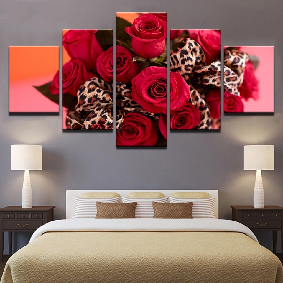 Compare Prices On Picture Red Rose  Online Shopping/buy Low Price With Red Rose Wall Art (Image 8 of 20)