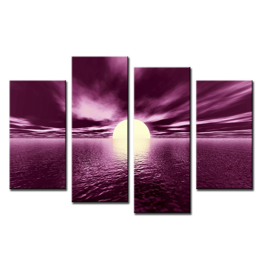 Compare Prices On Plum Sunset  Online Shopping/buy Low Price Plum With Plum Coloured Wall Art (Image 5 of 20)