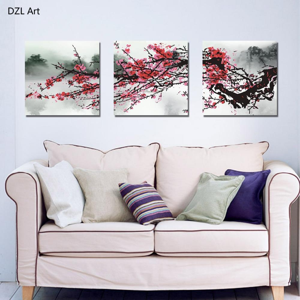 Compare Prices On Red Blossom Flowers Online Shopping/buy Low Within Red Cherry Blossom Wall Art (View 18 of 20)