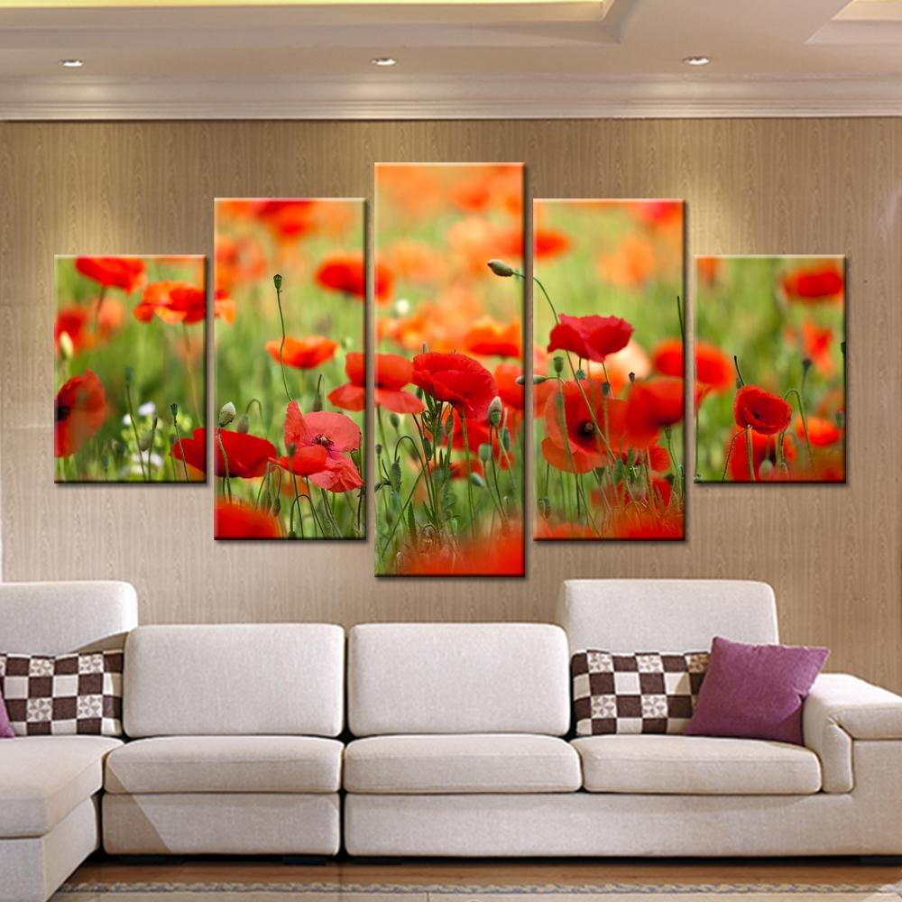 Compare Price To Wall Painting Kit: 20 Collection Of Red Poppy Canvas Wall Art