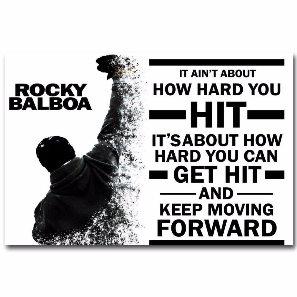 Compare Prices On Rocky Balboa Art Online Shopping/buy Low Price Pertaining To Rocky Balboa Wall Art (View 10 of 20)