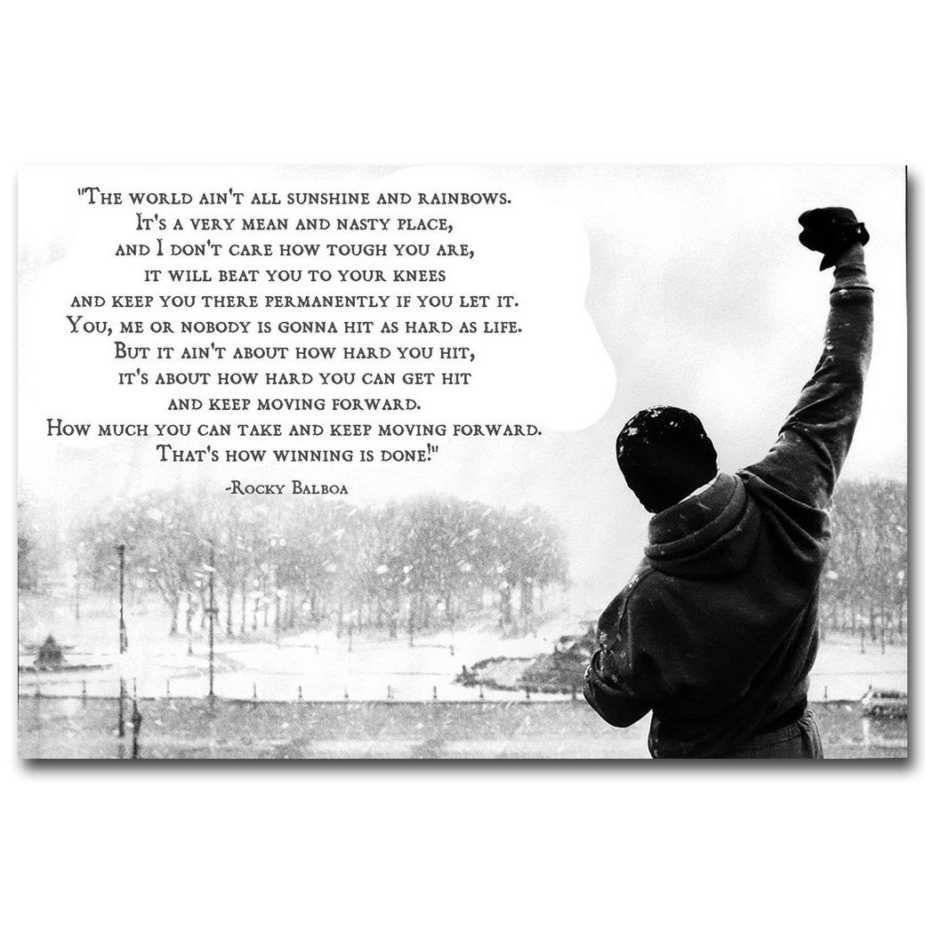 Compare Prices On Rocky Balboa Wall Art  Online Shopping/buy Low Intended For Rocky Balboa Wall Art (Image 4 of 20)