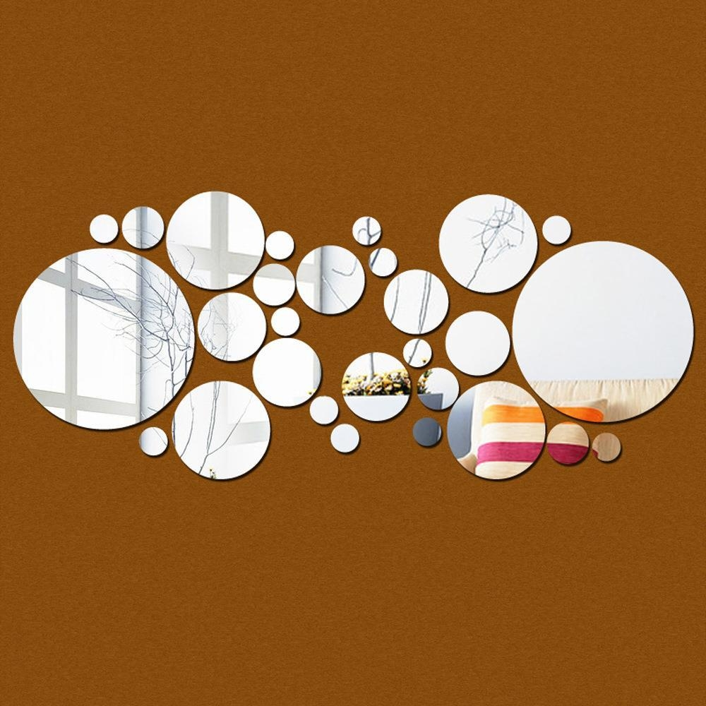 Compare Prices On Round Mirror Set Online Shopping/buy Low Price Inside Mirror Circles Wall Art (View 4 of 20)