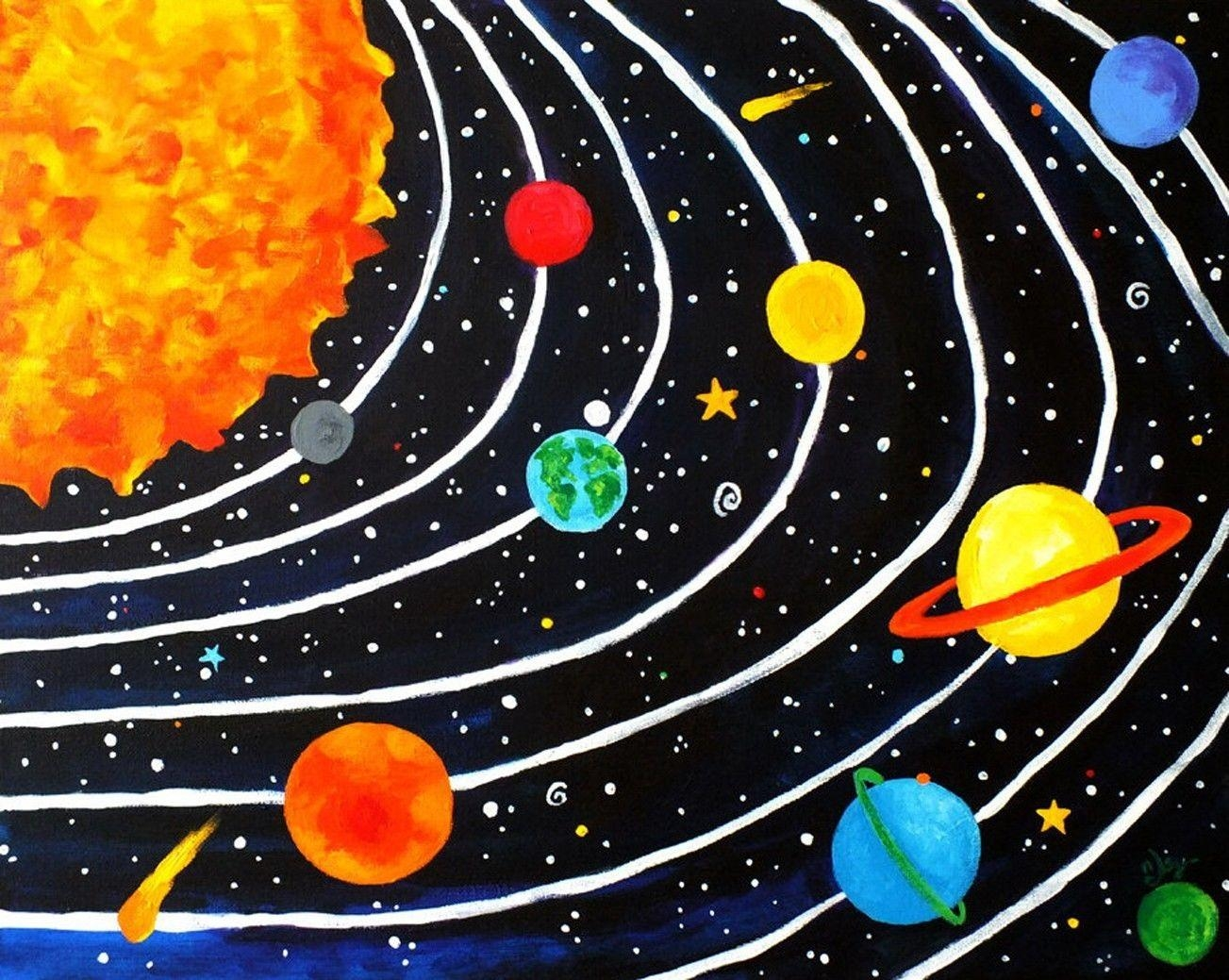 Compare Prices On Solar System Paintings Online Shopping/buy Low With Solar System Wall Art (View 10 of 20)