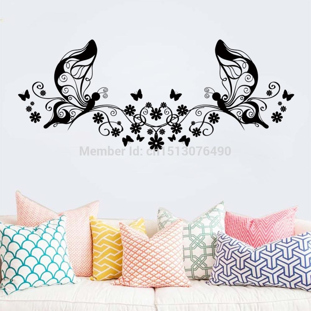 Compare Prices On Stickers Art Floral Wall Stickers  Online With Regard To Butterflies Wall Art Stickers (Image 8 of 20)
