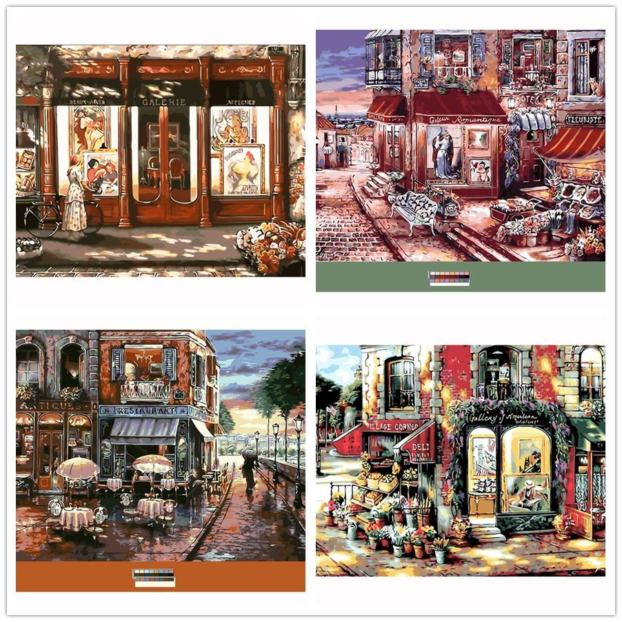 Compare Prices On Street Scene Art  Online Shopping/buy Low Price Intended For Street Scene Wall Art (Image 3 of 20)