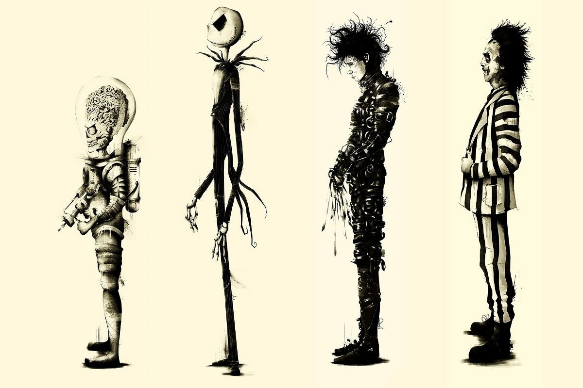 Compare Prices On Tim Burton Poster  Online Shopping/buy Low Price Pertaining To Tim Burton Wall Decals (Image 4 of 20)