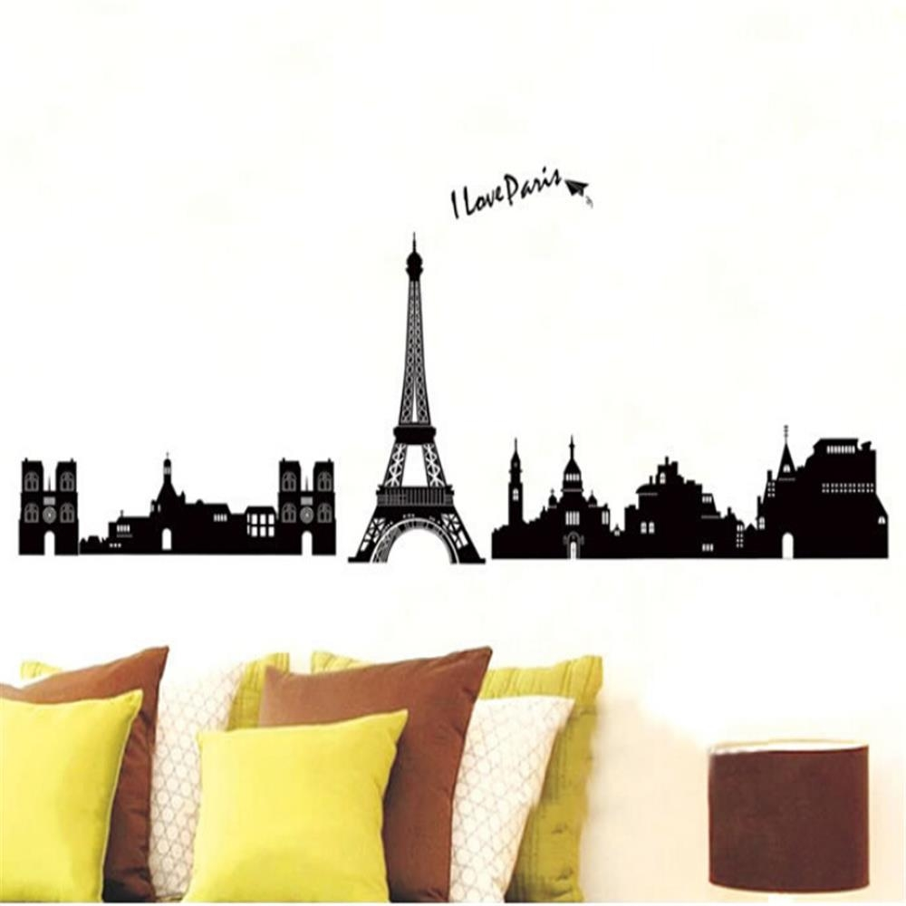 Compare Prices On Vinyl Wall Art Paris Online Shopping/buy Low With Regard To Paris Vinyl Wall Art (View 1 of 20)