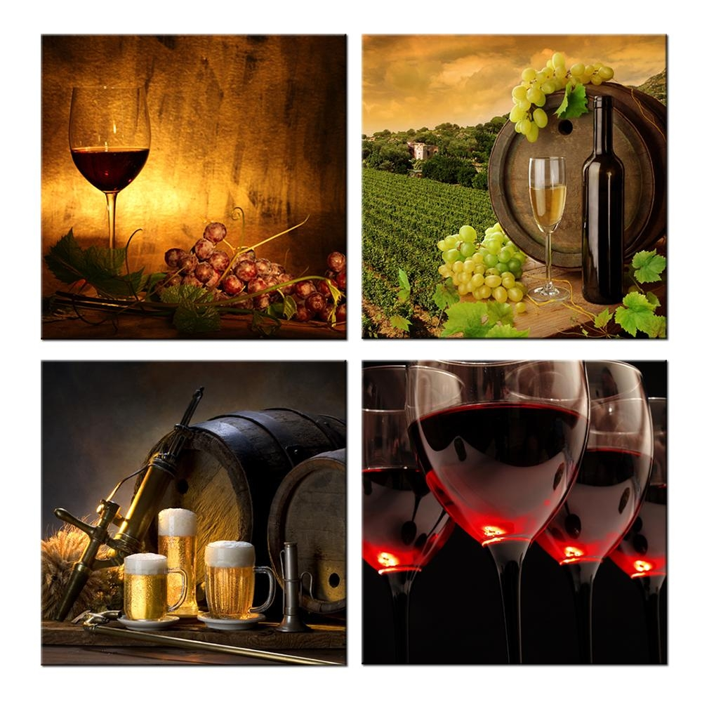 Compare Prices On Wall Art Wine  Online Shopping/buy Low Price Throughout Wine Theme Wall Art (Image 6 of 20)