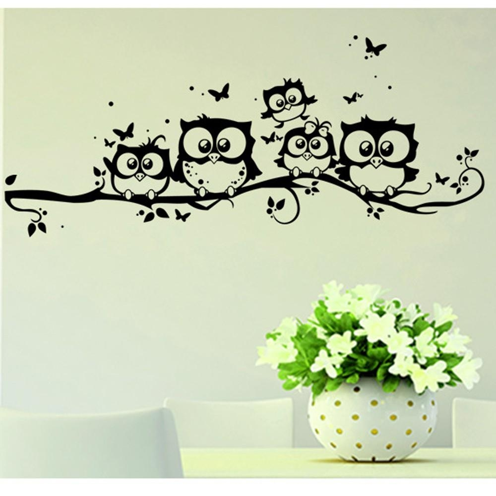 Compare Prices On Wall Stickers Cheap Online Shopping/buy Low Pertaining To Owl Wall Art Stickers (View 16 of 20)