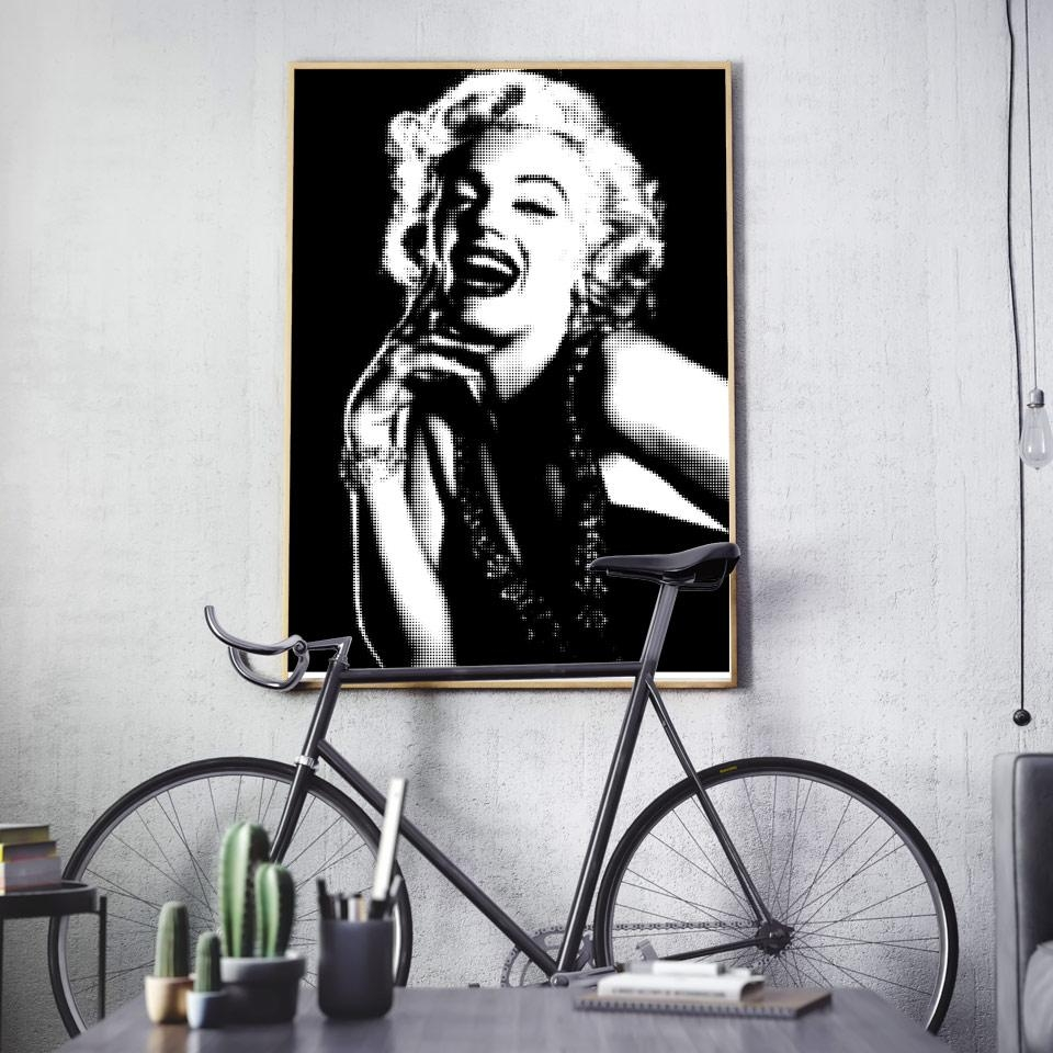 Compare Prices On White Marilyn Monroe  Online Shopping/buy Low Intended For Marilyn Monroe Black And White Wall Art (Image 10 of 20)
