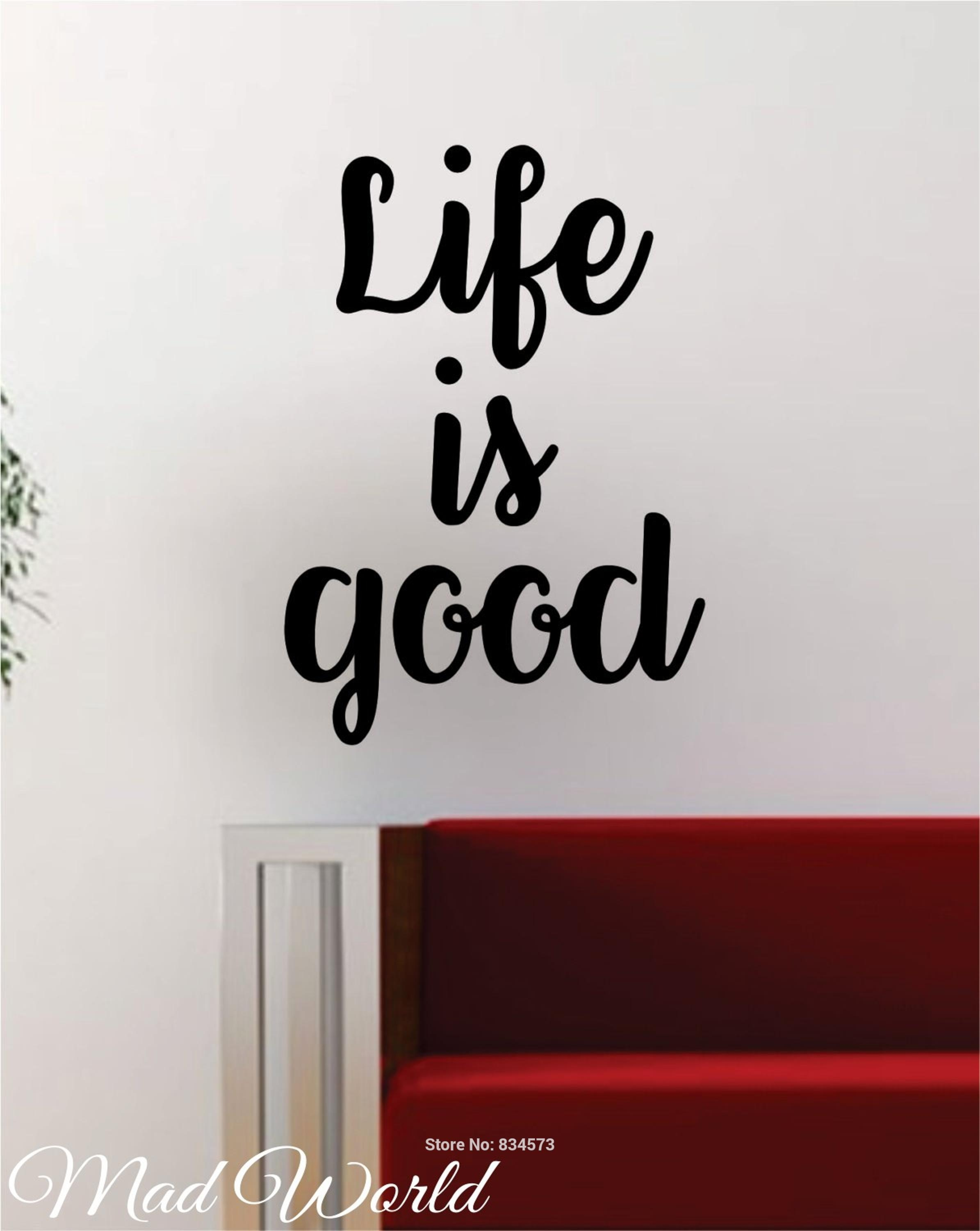 Compare Prices On World Good  Online Shopping/buy Low Price World For Life Is Good Wall Art (Image 4 of 20)