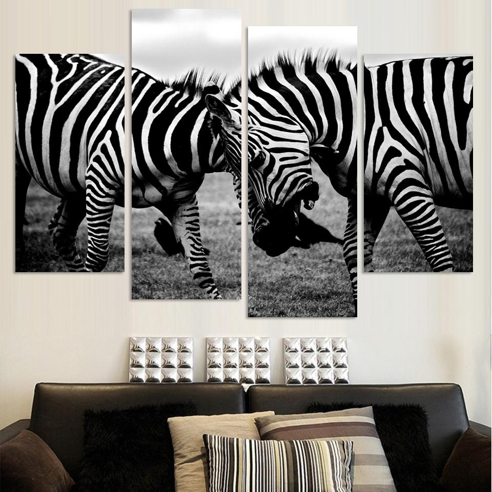 Compare Prices On Zebra Wall Art Canvas  Online Shopping/buy Low Within Zebra Wall Art Canvas (Image 4 of 20)
