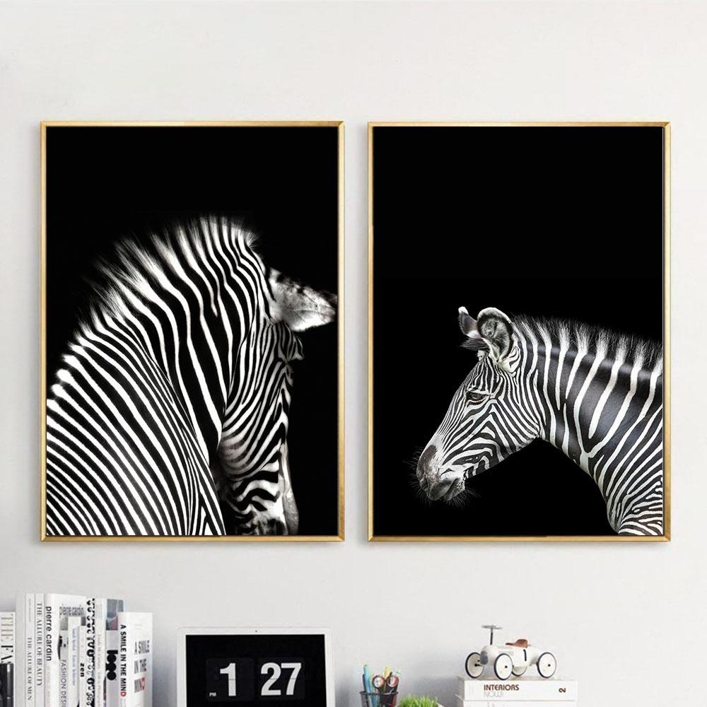 Compare Prices On Zebra White  Online Shopping/buy Low Price Zebra Throughout Zebra Wall Art Canvas (Image 6 of 20)
