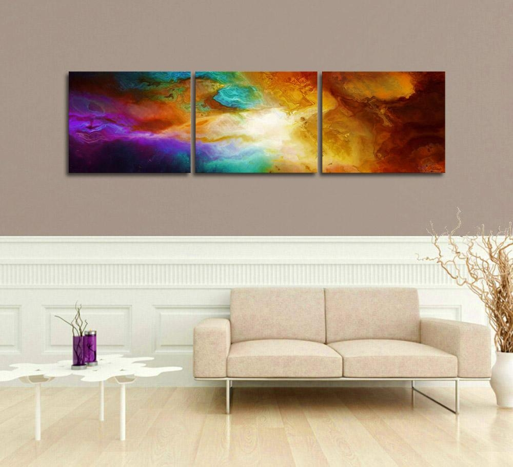 "Contemporary Abstract Art For Sale – ""becoming"" – Within Triptych Art For Sale (Image 5 of 20)"