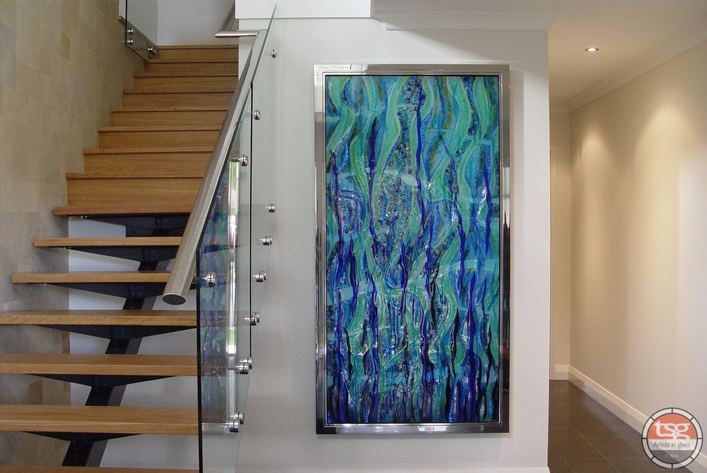20 top fused glass wall art panels wall art ideas for Glass panel walls