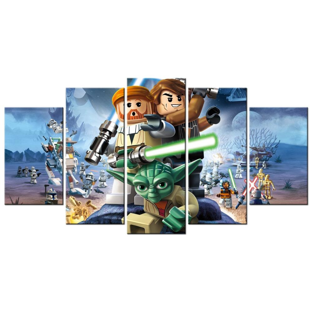Contemporary Art Lego Star Wars The Video Game Poster Canvas Regarding Lego Star Wars Wall Art (View 7 of 20)