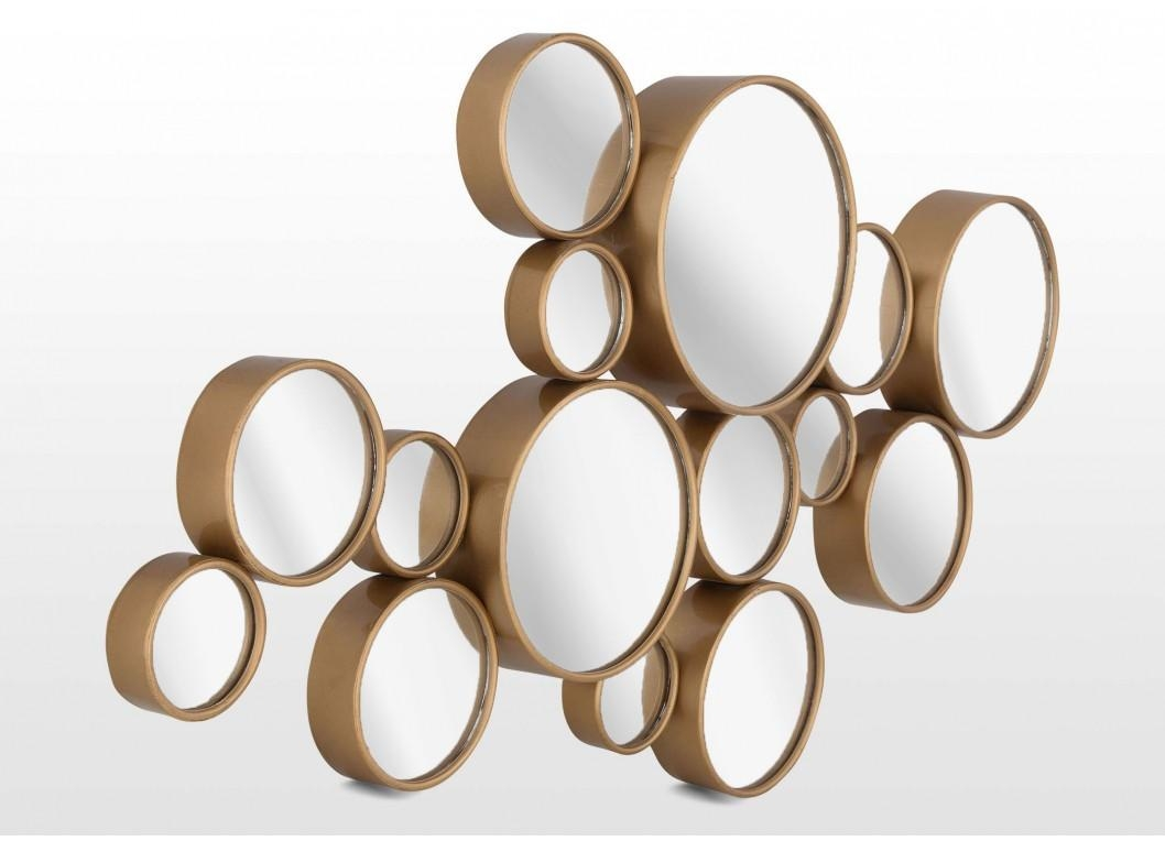 Contemporary Gold Bubble Design Mirror Wall Art Atlanta – Ez Inside Contemporary Mirror Wall Art (View 19 of 20)