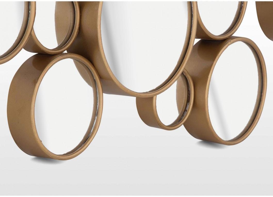 Contemporary Gold Bubble Design Mirror Wall Art – Atlanta In Wall Art Mirrors Contemporary (Image 5 of 20)