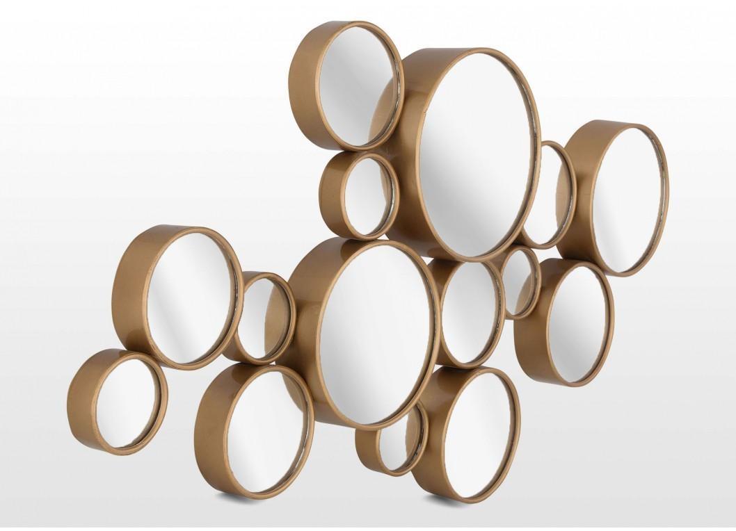 Contemporary Gold Bubble Design Mirror Wall Art – Atlanta Throughout Modern Mirrored Wall Art (Image 8 of 20)