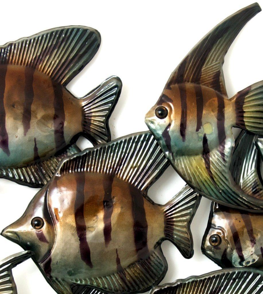 Contemporary Metal Wall Art – Angel Fish Shoal | Ebay In Fish Shoal Metal Wall Art (View 19 of 20)