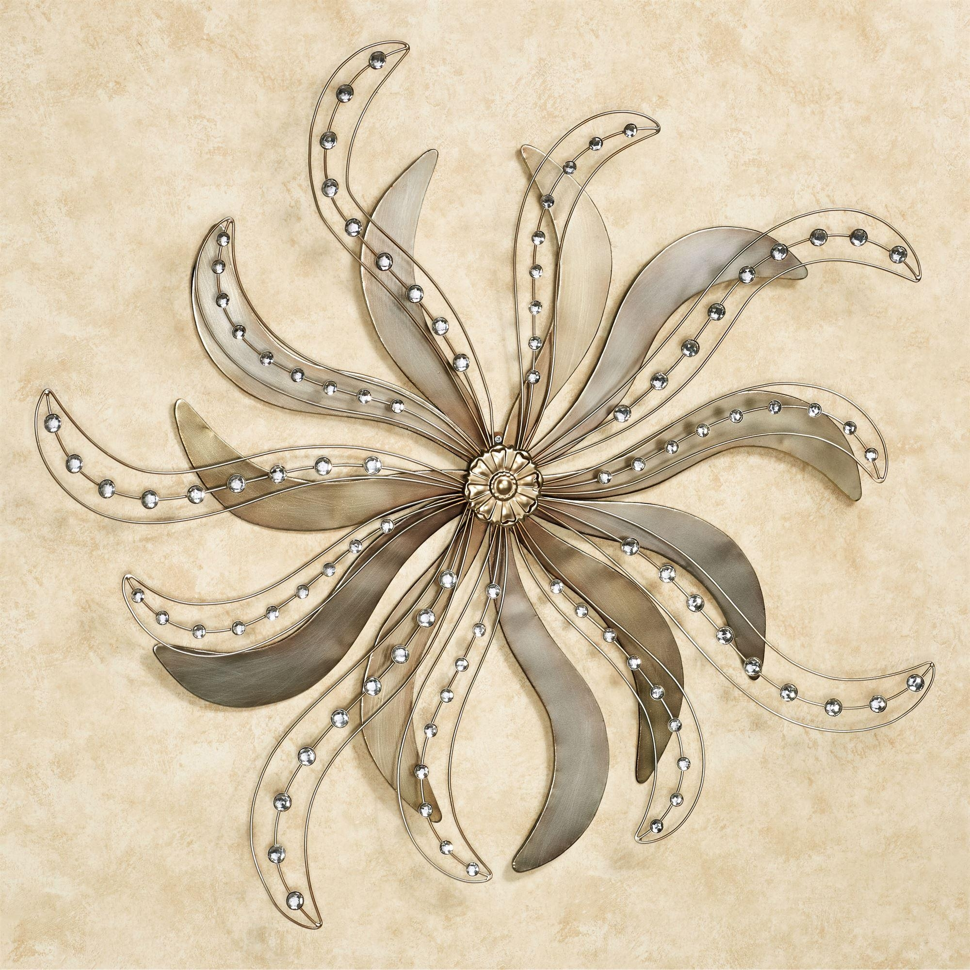 Contemporary Metal Wall Art Sculptures | Touch Of Class Throughout Jeweled Metal Wall Art (Image 4 of 20)