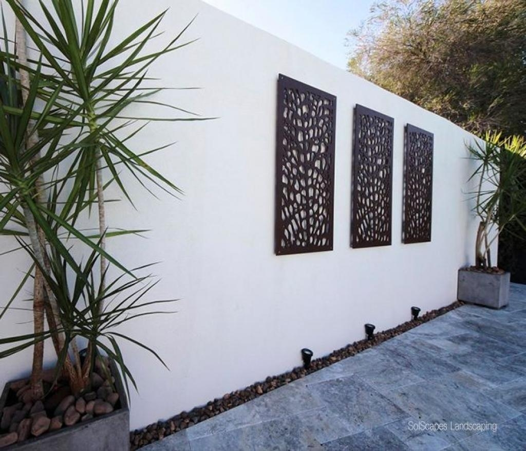 20 best collection of modern outdoor wall art wall art ideas for Modern exterior wall design