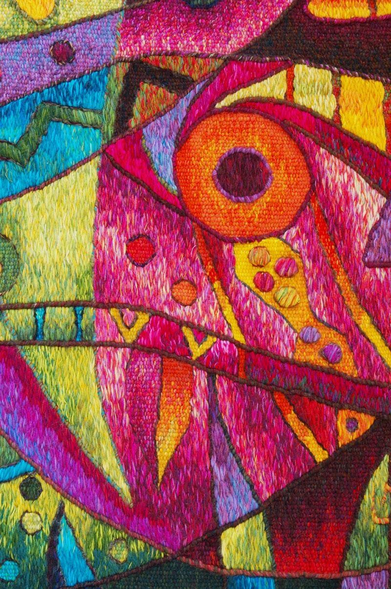 Contemporary Sea Tapestriesmaximo Laura | Peruvian Tapestry Art Inside Peruvian Wall Art (View 20 of 20)