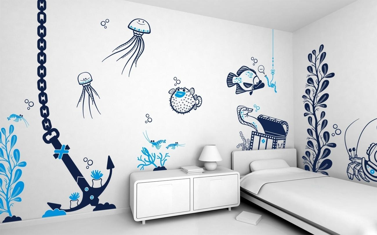 Cool Art Bedroom Wall Painting Ideas For Teenagers | Howiezine In Wall Art For Teenagers (View 11 of 20)