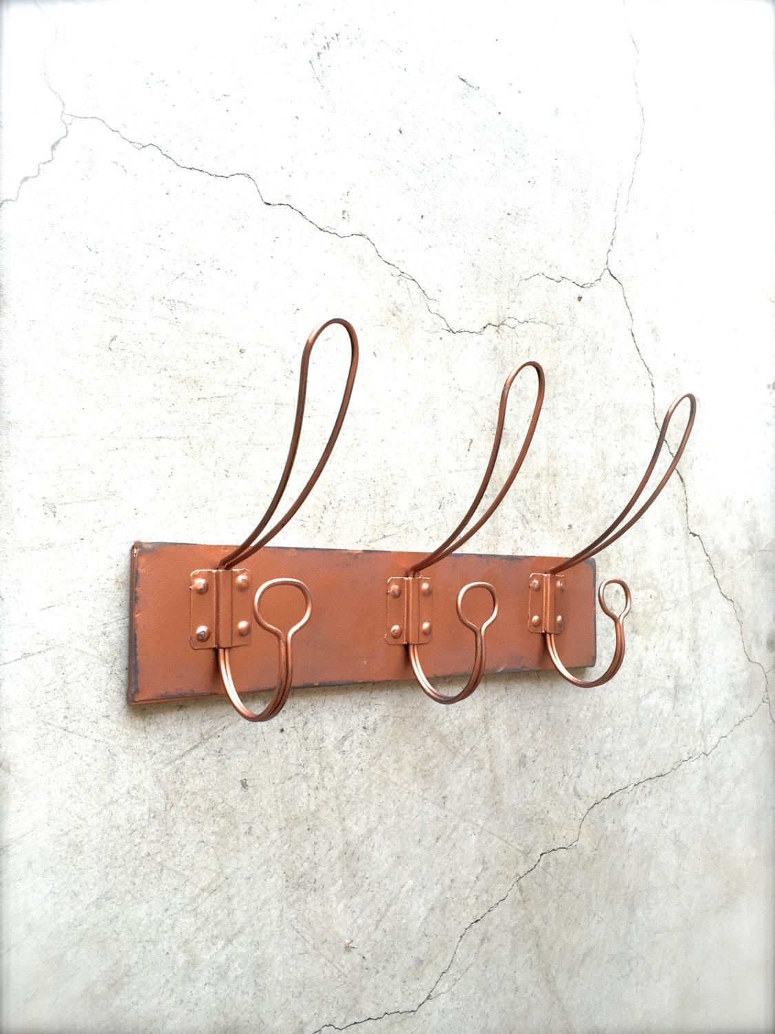 Copper Coat Rack Coat Hooks Wall Hook Rack Wall Hooks within Wall Art Coat Hooks
