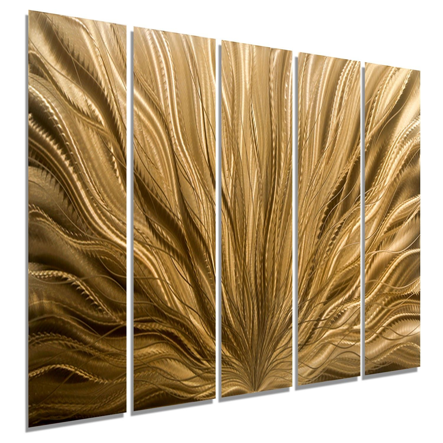 Copper Plumage Epic – Extra Large Light Copper Abstract Metal Wall Inside Large Copper Wall Art (Image 4 of 20)