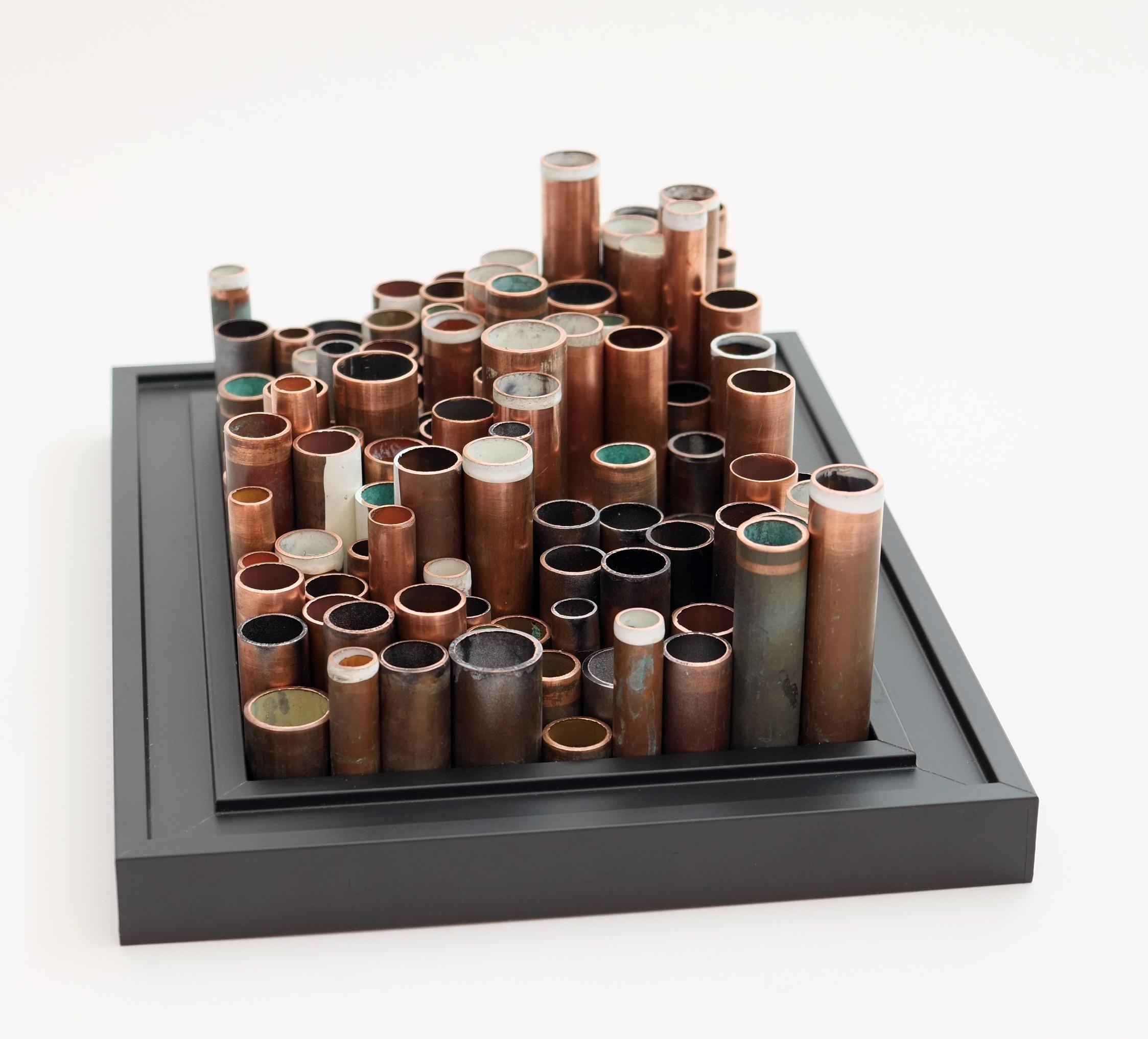 Copper Weave Metal Wall Art Panel | Wallsloveart | Foundmyself Inside Metal Framed Wall Art (Image 2 of 20)