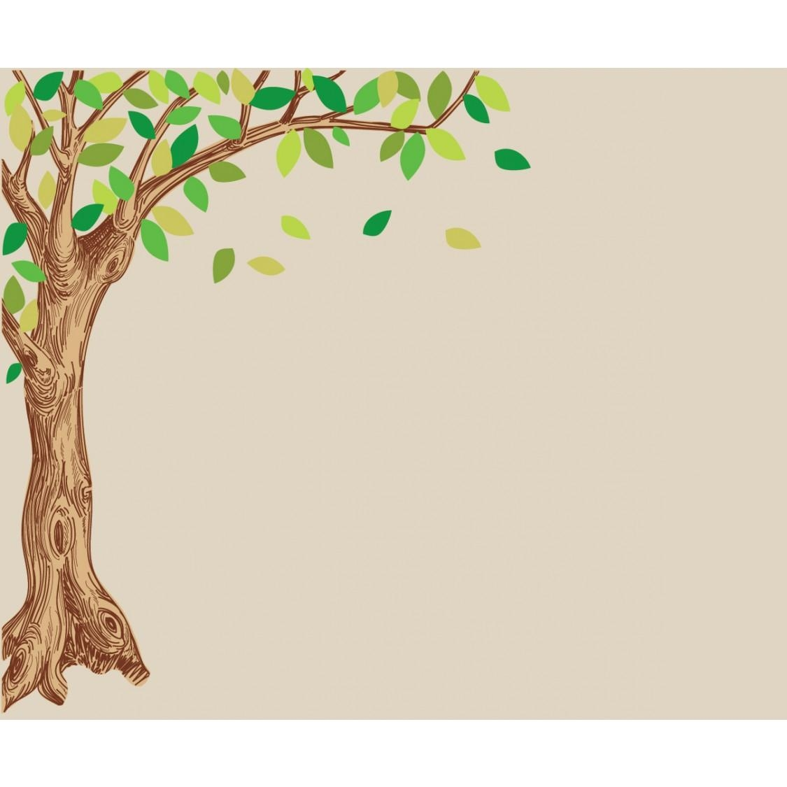 Corner Oak Large Tree Decal For Children With Regard To Metal Oak Tree Wall Art (Image 2 of 20)
