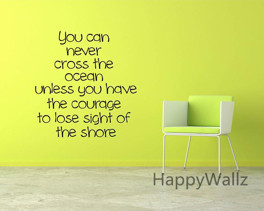 Courage Motivational Quote Wall Sticker Diy Decorative Courage Throughout Inspirational Wall Decals For Office (Image 13 of 20)