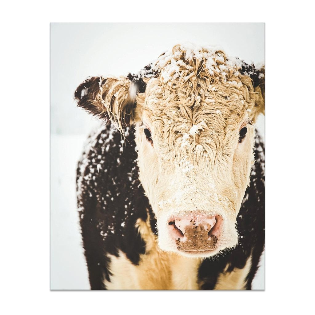 Cow Print Cow Art French Country Decor Farmhouse Print Inside French Country Wall Art (View 16 of 20)