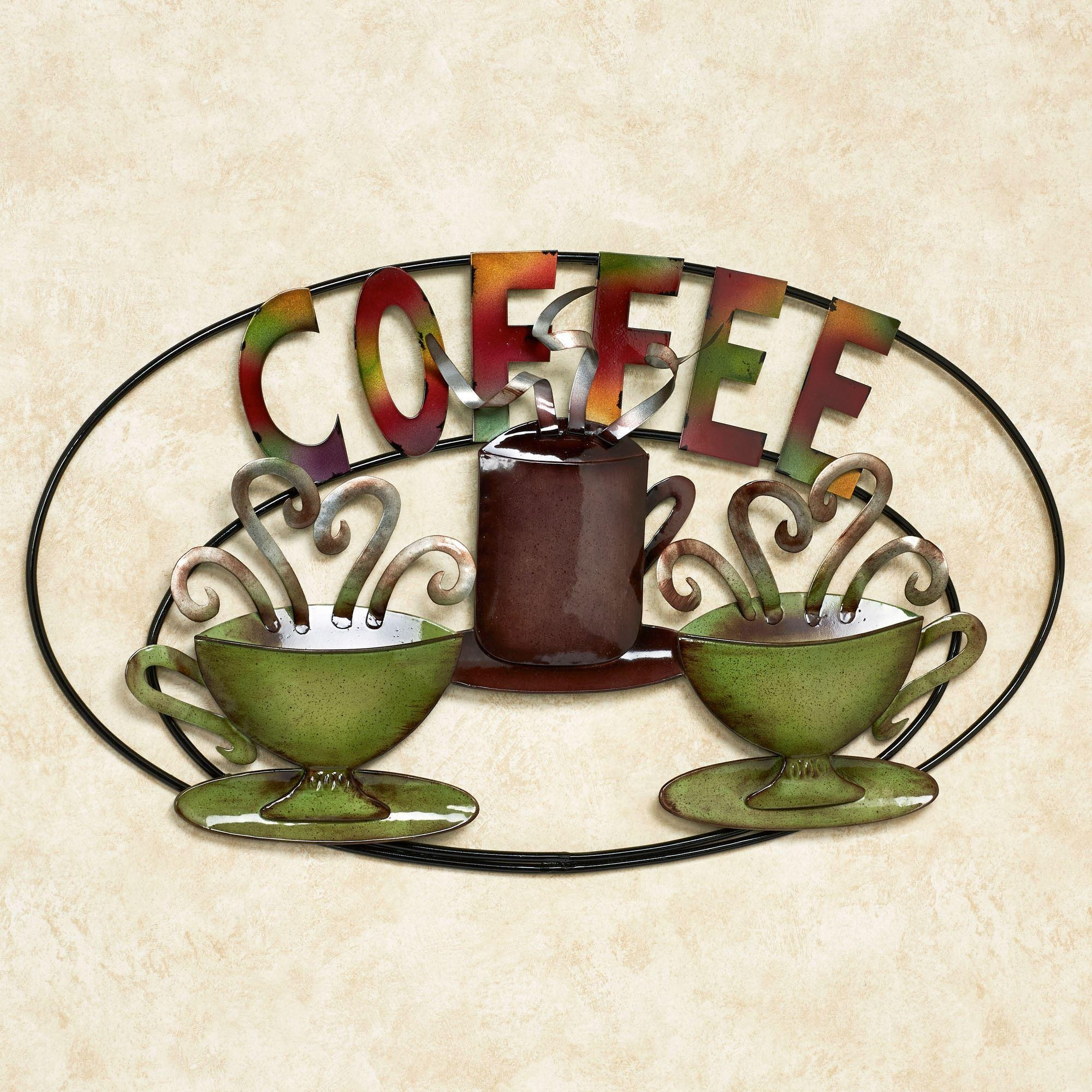 Cozy 3D Metal Coffee Cup Wall Art Coffee House Cup Metal Coffee With Regard To Coffee Theme Metal Wall Art (View 15 of 20)