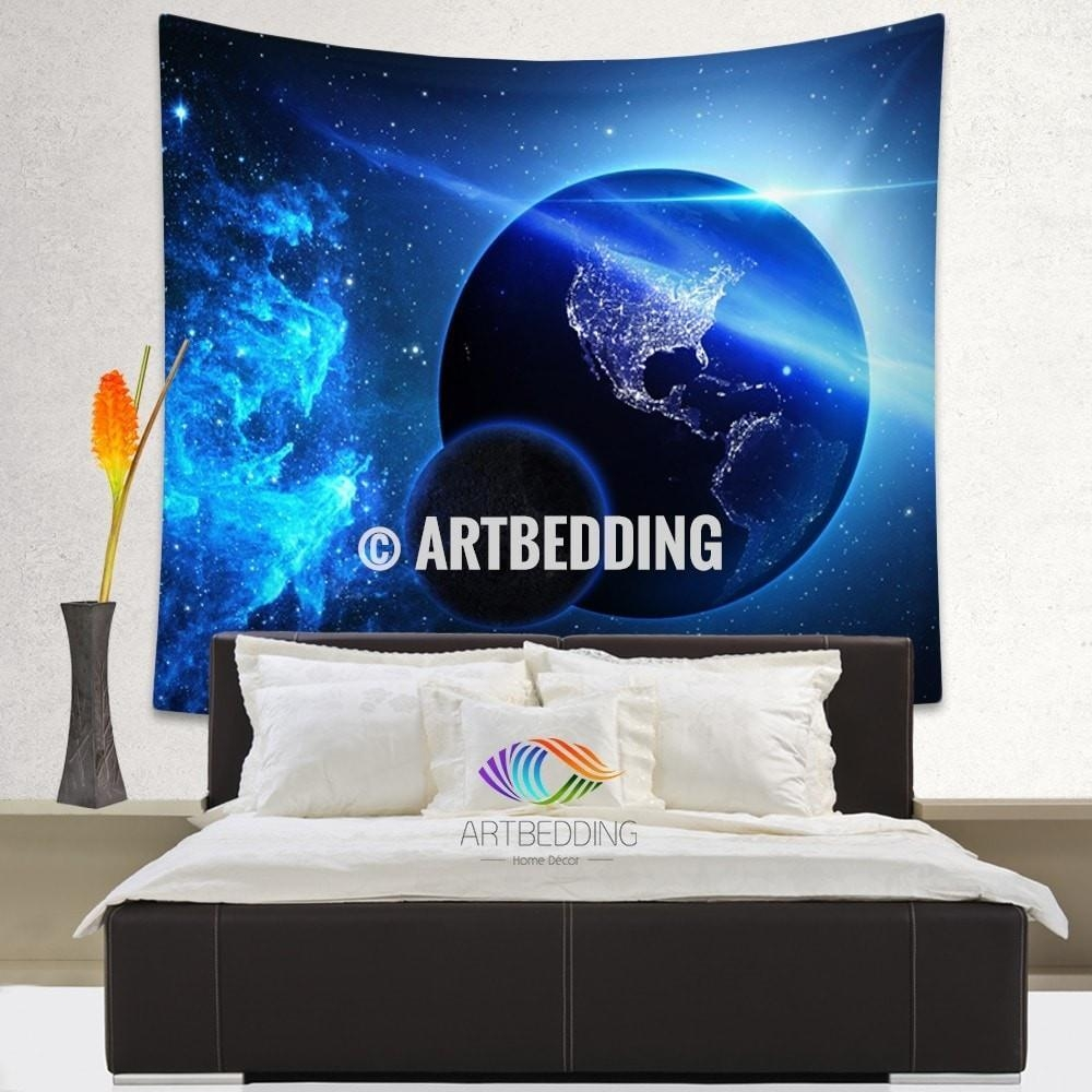 Cozy Space Wall Art 11 3D Outer Space Wall Art Galaxy Tapestry Within Outer Space Wall Art (View 8 of 20)
