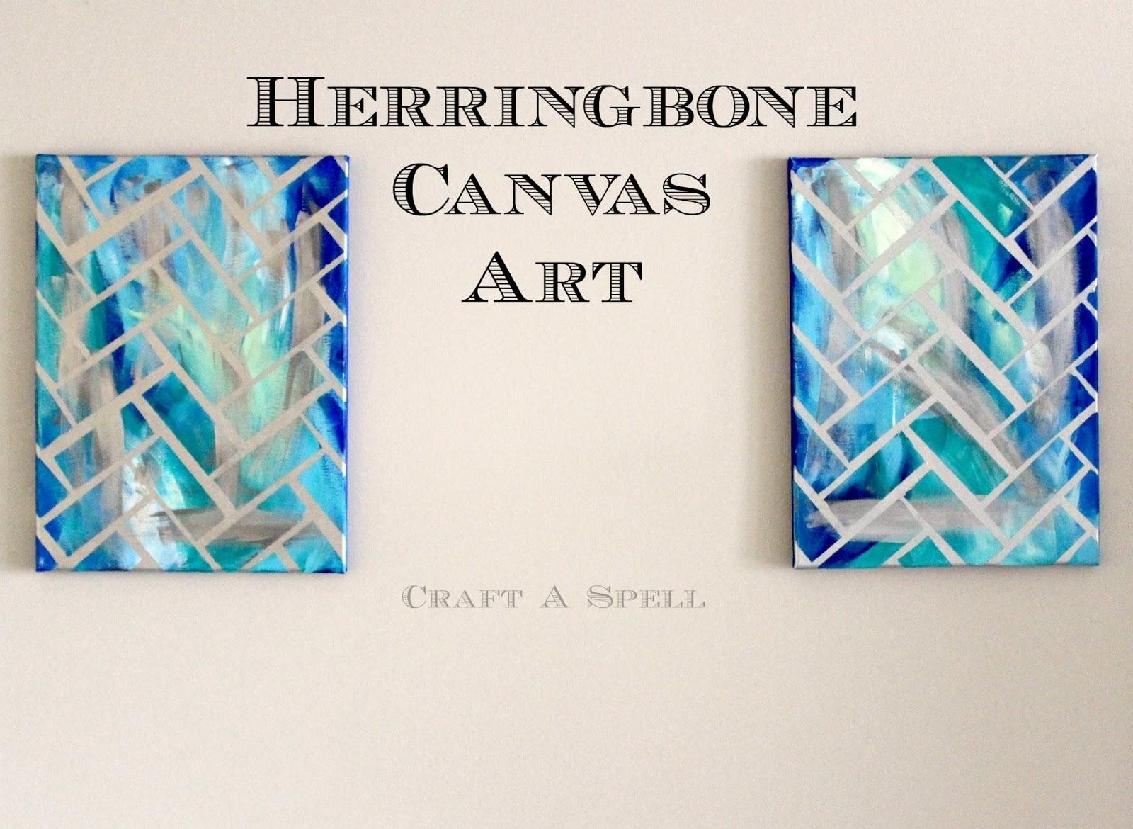 Craft A Spell: Diy Herringbone Canvas Art For Diy Pinterest Canvas Art (View 4 of 20)
