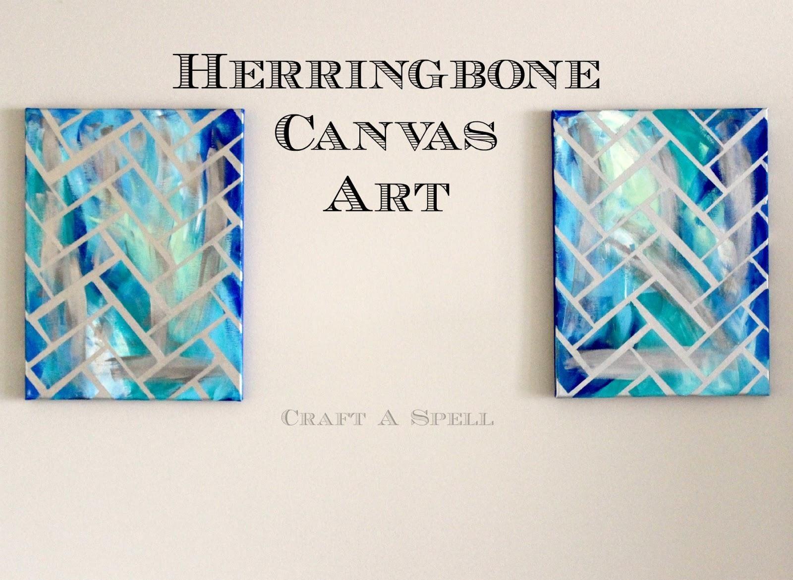 Craft A Spell: Diy Herringbone Canvas Art For Diy Pinterest Canvas Art (Image 19 of 20)