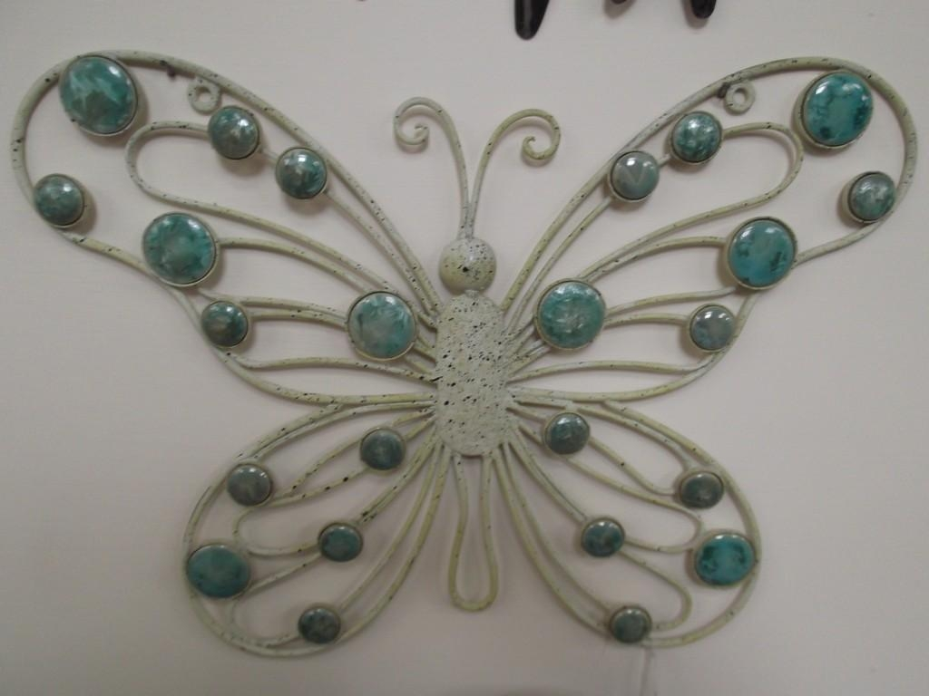 Cream Metal Butterfly Wall Art | Wallartideas Within Cream Metal Wall Art (View 9 of 20)