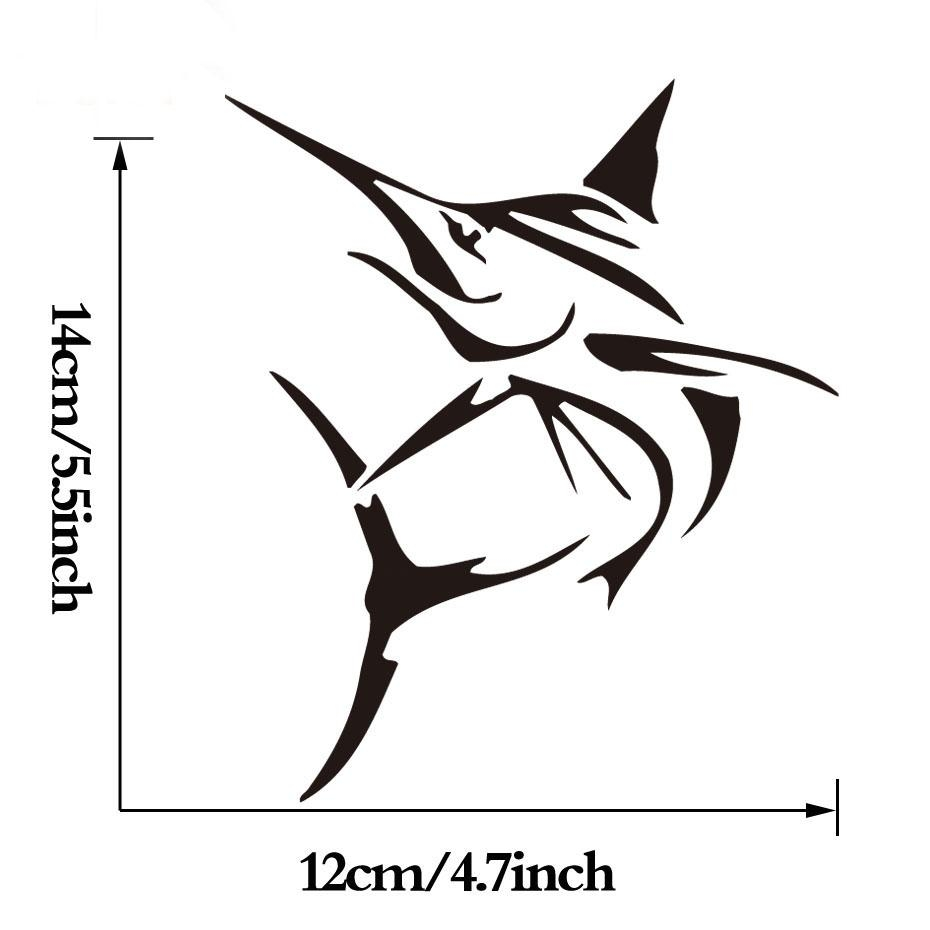 Creative Tribal Marlin Fish Bone Wall Sticker Small Computer Decor Regarding Fish Bone Wall Art (Image 11 of 20)