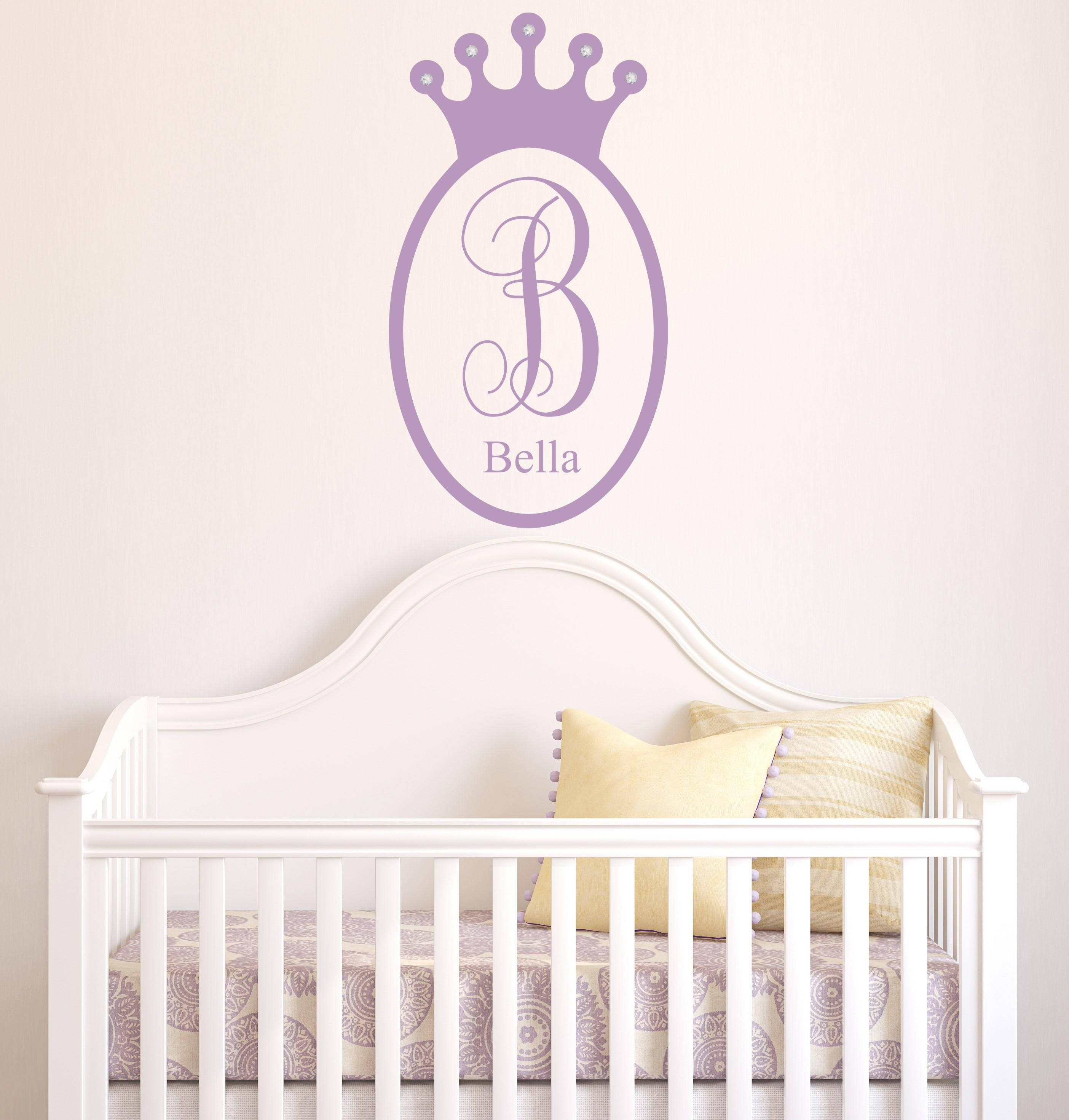 Crown Wall Decal, Princess Decor Wall Sticker For Princess Crown Wall Art (Image 8 of 20)