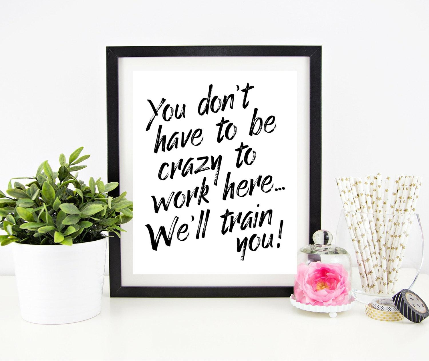 Cubicle Decor Printable Office Wall Art Funny Office Signs For Cubicle Wall Art (Image 4 of 20)