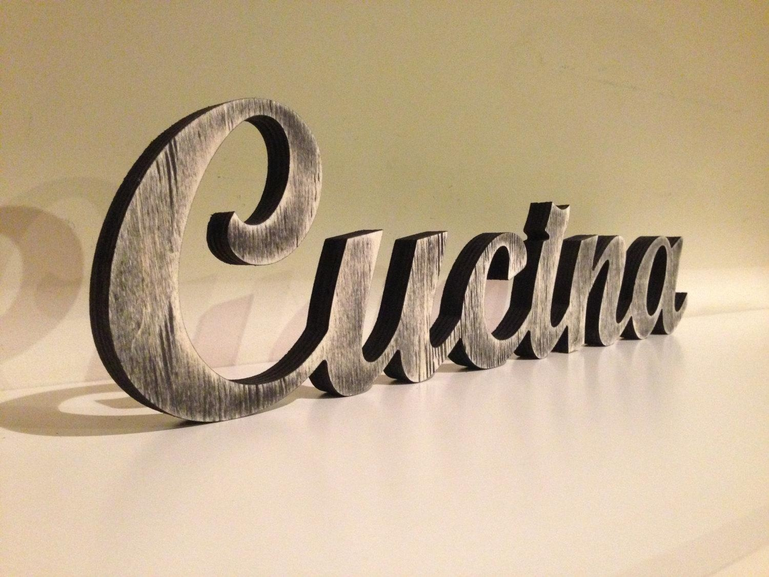 Cucina Italiana Italian Word For Kitchen Kitchen Sign Throughout Cucina Wall Art Decors (Image 9 of 20)