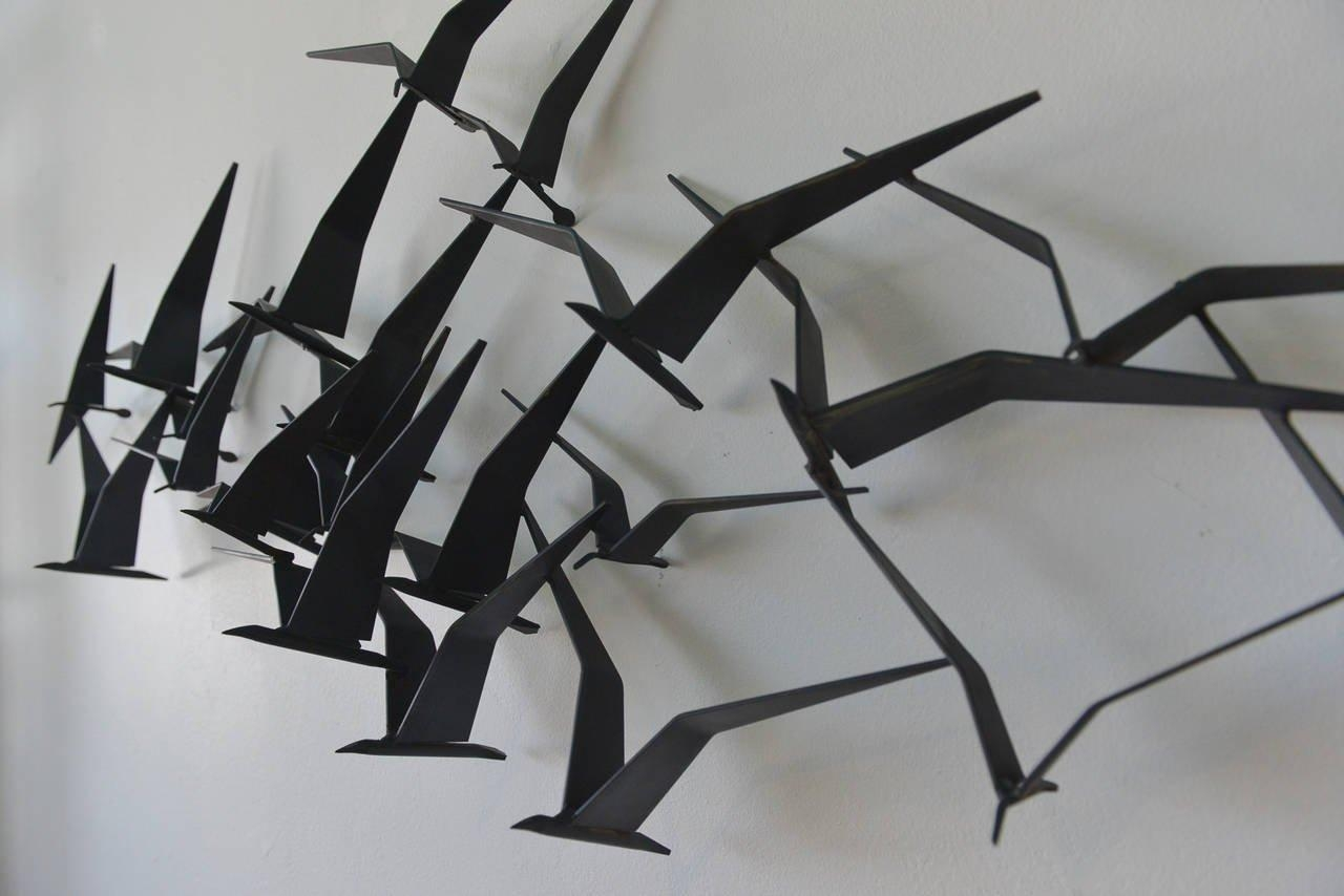 Curtis Jere Birds In Flight Metal Wall Sculpture At 1Stdibs For Birds In Flight Metal Wall Art (Image 7 of 20)