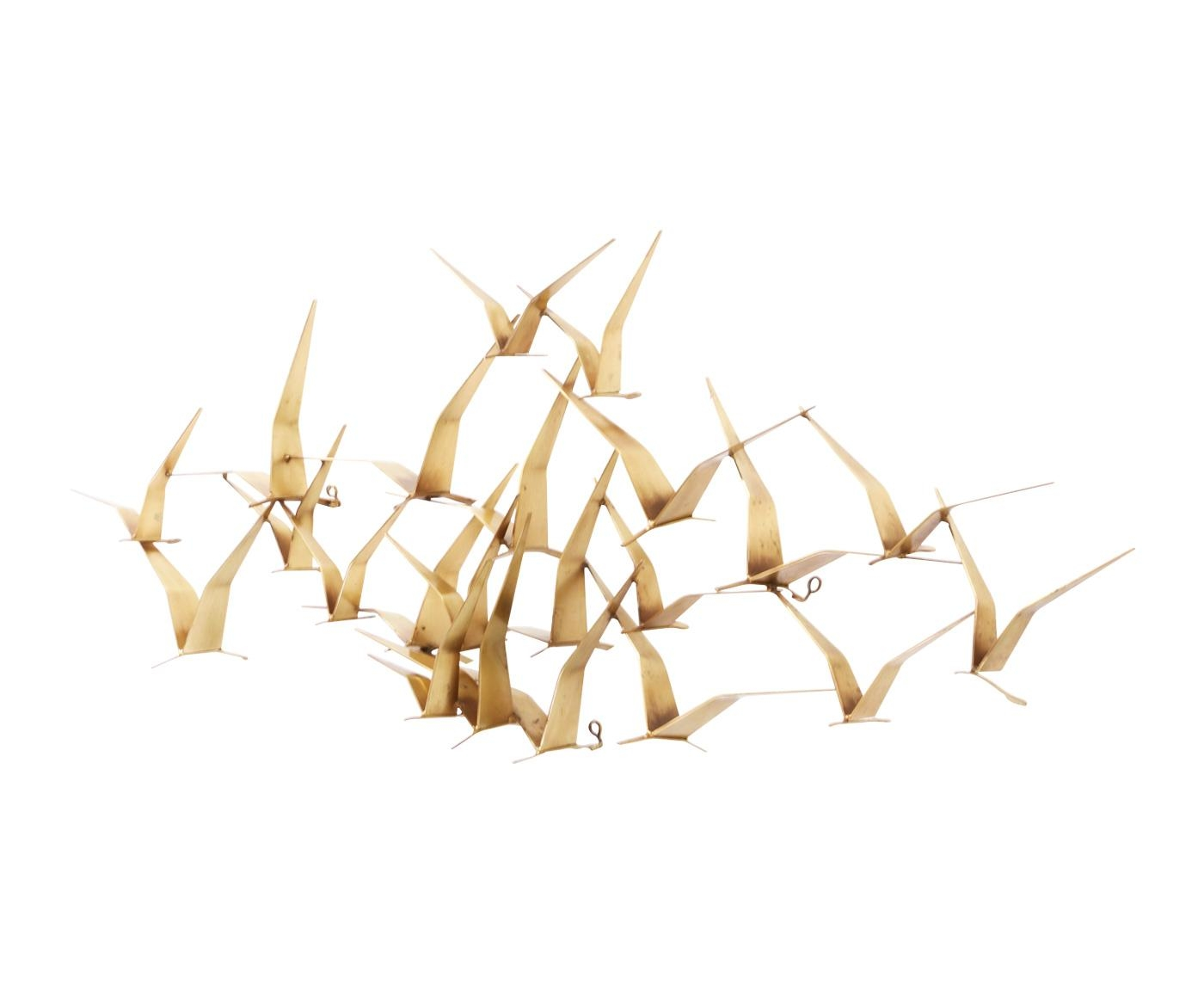 "Curtis Jere Brass ""Flock Of Birds"" Wall Art Sculpture For Artisan Regarding Flock Of Birds Wall Art (View 19 of 20)"